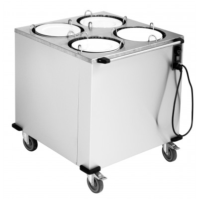 Τροχήλατο dispenser πιάτων τετραπλό