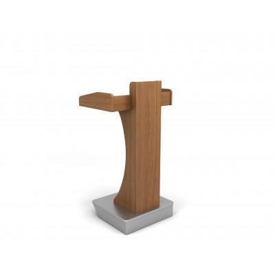 Αναλόγιο ομιλητή ξύλινο με ανοξείδωτη βάση και ρόδες RM740